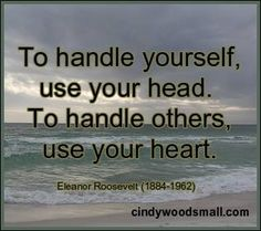 When to use your head, and when to use your heart.