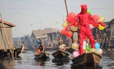 """Jelili Atiku """"Obranikosi"""" (In the Red), 2013, Lagos. Photo: Kabiru Adeola Adulrasheed"""