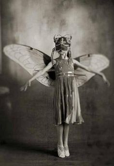 wings - moth girl #Photography #black and white