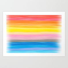 Crayon Love: Good Feeling Art Print by Ornaart - $16.00