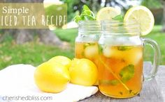 Bigelow Iced Tea Recipe with Lemonade Ice Cubes - Cherished Bliss