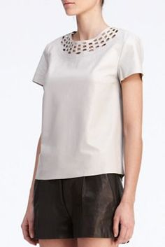 leather top by DVF