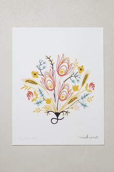 Botanical Print By Caitlin McClain - anthropologie.com  - Midwest
