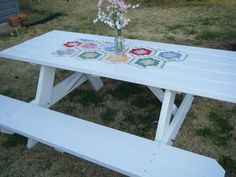 painted picnic table ideas - Google Search