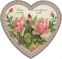free victorian rose valentine