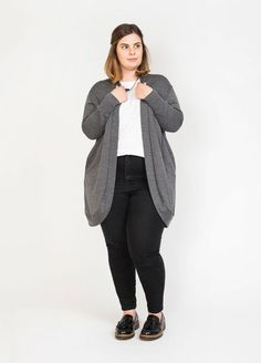 Peppermint pattern by In The Folds - Slouchy Cardigan