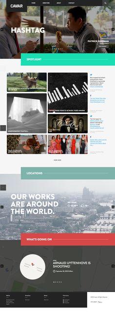 CAVIAR \\ Nice website, cool grid. http://www.caviarcontent.com