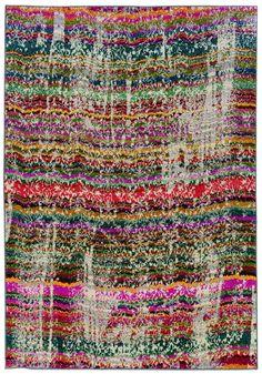 Kaleidoscop Multicolored 5X8 Area Rug