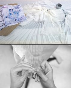 The process of making look for Chanel haute couture f/w 2011...