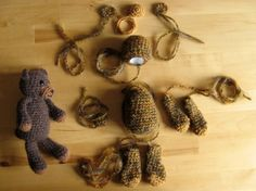 Adorable - crocheted teddy bear. So excited to try making this!