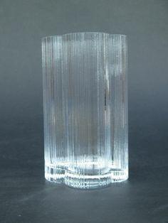 Nuutajarvi Cumulus Glass Vase  by Markku Salo Sweden 80s Scandinavian Iittala