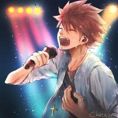 singer!natsu dragneel (found via tumblr)