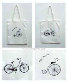 shopping bags Shopping Bags, Bicycle, Reusable Tote Bags, Handmade, Bike, Hand Made, Bicycle Kick, Shopping Bag, Bicycles