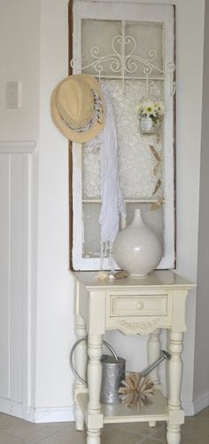 Old windows/ I like this, I could do this with one of mine!! :-)