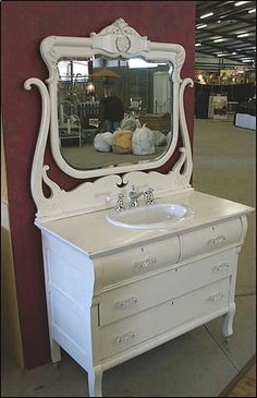 bathroom vanity from old dresser | images of antique bathroom vanity shabby chic white dresser with sink ... by debbie