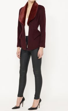 Burgundy And Red Jacket