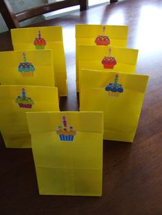 Gift bags 5 year old birthday party