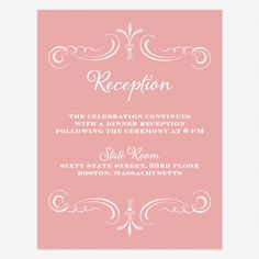 Are you getting invitations specifically for your reception? Check out this pink and white wedding reception invitations today! Wedding Reception Invitation Wording, Wedding Reception Invitations, Invite, Pink And White Weddings, Response Cards, Thank You Cards, Wedding Planning, Place Card Holders, Elegant