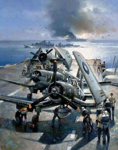 American planes prepare for action.