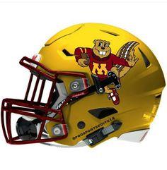 Minnesota Golden Gophers Riddell SpeedFlex concept football helmet