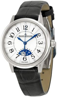 f5f4b5ff672 Jaeger-LeCoultre Jaeger Lecoultre Rendezvous Mother of Pearl Dial Black  Leather Ladies Watch