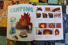 "felt campfire pattern | DIY campfire pattern in ""Big Little Felt Universe"""