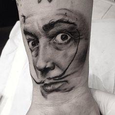 Tatuaggio salvador dali tattoo portrait