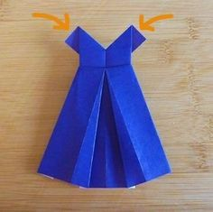 instructions for origami dress