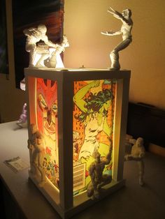 marvel lamp by www.nealswansonart.com featuring action figures