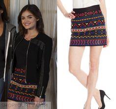 Pretty Little Liars: Season 7 Episode 12 Aria's Embroidered Mini Skirt | Shop Your TV