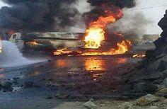 اخبار: 85 قتيلا على الاقل اثر انفجار شاحنة نفط في جنوب ال...