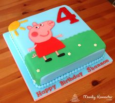peppa pig birthday cakes - Google Search