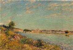 Saint Mammes - Alfred Sisley