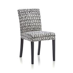 "Crate and Barrel Lowe Links Side Chair ""Wx23""Dx34.6""H $189 Head Chairs"