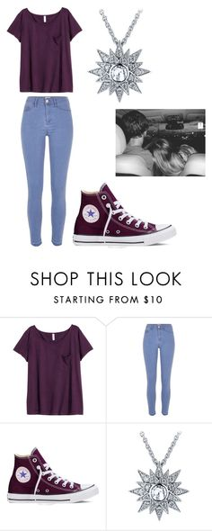 """""""Save You Tonight"""" by forever-young114 ❤ liked on Polyvore featuring H&M, River Island, Converse, Jade Jagger, women's clothing, women, female, woman, misses and juniors"""