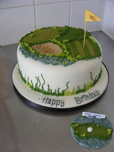 Another gallery of great cake ideas. Check out these awesome golf themed cakes and learn new ways to decorate your own fabulous cake at home! Golf Birthday Cakes, Golf Cakes, Beautiful Cakes, Amazing Cakes, Cupcake Cookies, Cupcakes, Specialty Cakes, Cake Decorating Tips, Fancy Cakes