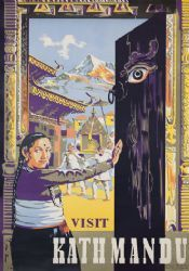 Vintage travel poster of Nepal Asia the country is located in the Himalayas and bordered to the north by the People s Republic of China and to the Tourism Poster, Poster Ads, Vintage Advertisements, Vintage Ads, Vintage Travel Posters, Poster Vintage, Illustrations, Retro, 1