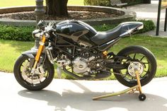 Ducati Monster w exhaust box example