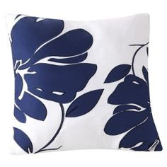 Decorative Toss Pillow - Blue Floral