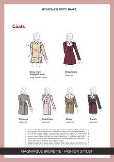 Hourglass Figure Outfits, Hourglass Dress, Hourglass Fashion, Body Shape Guide, Dress For Body Shape, Deep Autumn Color Palette, Hourglass Body Shape, Petite Body, Fashion Vocabulary