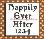 Happily Ever After Embroidery Design Alphabet by 8Clawsandapaw.com