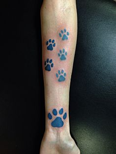 Dog paw tattoo for moose. He passed this year in May! Looks awesome. Ask for joker at 7sinstattoo.com