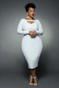 WE TV Stylist Goo Goo Atkins She putting a hit em hard in this white dress! Curvy Girl Fashion, Look Fashion, Plus Size Fashion, Fashion Outfits, Womens Fashion, Plus Size Dresses, Plus Size Outfits, Full Figured Women, Plus Size Beauty