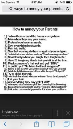 Funny Ways To Annoy Your Parents. And Funny Things To Do in An Elevator #Entertainment #Trusper #Tip
