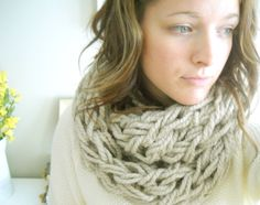 Arm Knit an Infinity Scarf in 30 Minutes - The Original Tutorial - With ...