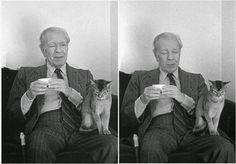 Borges todo el año: Jorge Luis Borges - Aquél (Foto Amanda Ortega - Fundación Internacional Jorge Luis Borges) http://borgestodoelanio.blogspot.com/2014/07/jorge-luis-borges-aquel.html