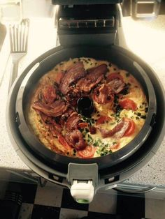 Omeletts in Actifry – MoB Epsilon Homemade Sauerkraut, Sauerkraut Recipes, Tefal Actifry, Actifry Recipes, Cooking Recipes, Healthy Recipes, Fritters, Food Print, Bacon