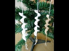CROCHET CHRISTMAS ORNAMENT, LEARN HOW TO CROCHET AN ICICLE ORNAMENT - YouTube