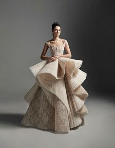 Krikor Jabotian 2020 Spring Bridal Collection – The FashionBrides Ball Gown Dresses, Prom Dresses, Bridal Gowns, Wedding Gowns, Krikor Jabotian, Wedding Dress Sketches, Beautiful Gowns, Beautiful Models, Couture Fashion