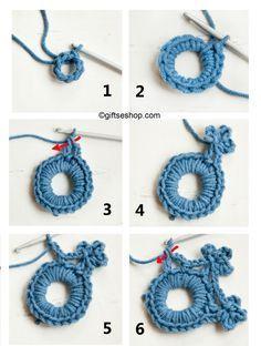 crochet snowflake pattern, Christmas tree decoration